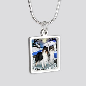 FROZENLAKE 2 2 Silver Square Necklace