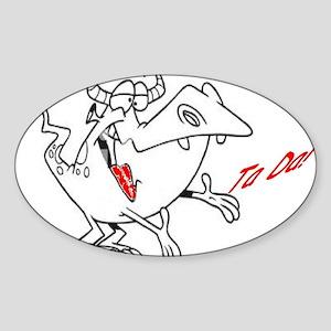 Boxer Briefs - Ta Da Image Sticker (Oval)