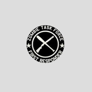 Zombie Task Force - Shirt - White Mini Button