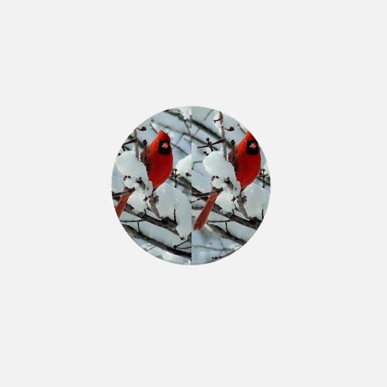 Cardinal Winter Mini Button