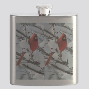 Cardinal Winter Flask