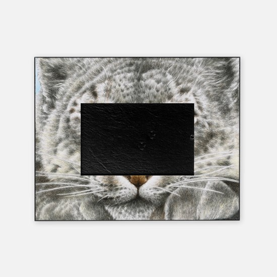 Snow Leopard (Throw pillow) Picture Frame