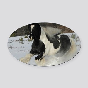Mickey Snow  Rectangle Oval Car Magnet
