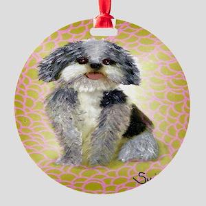 mutt Round Ornament