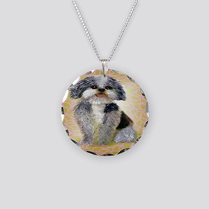 mutt Necklace Circle Charm