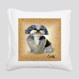 mutt Square Canvas Pillow