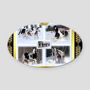 FGS Puzzle FINAL 4 copy-5 Oval Car Magnet