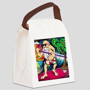 santa-square Canvas Lunch Bag