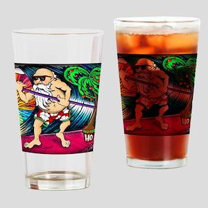santa-square Drinking Glass