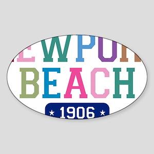 Newport Beach 1906 W Sticker (Oval)