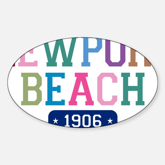 Newport Beach 1906 W Sticker (Oval)