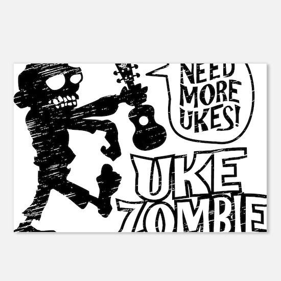 Uke Zombie Postcards (Package of 8)