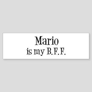 Mario is my BFF Bumper Sticker