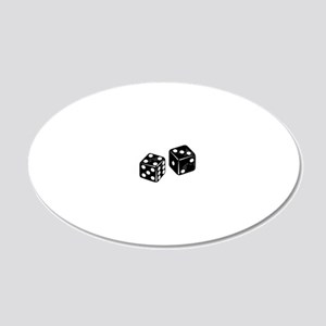 dice 20x12 Oval Wall Decal