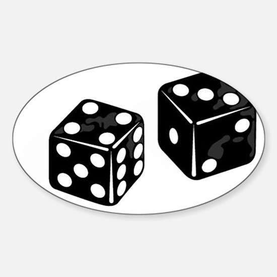 dice Sticker (Oval)