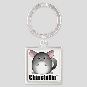 chinchillin Square Keychain