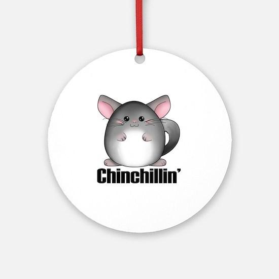 chinchillin Round Ornament