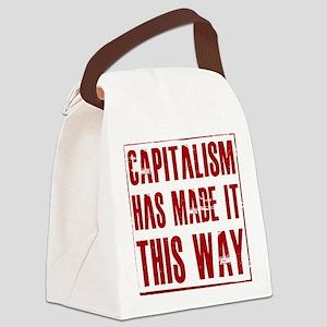 capitlaism_trans Canvas Lunch Bag
