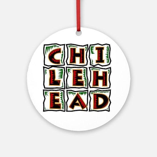 Chilehead Round Ornament