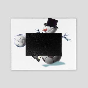 SNOWSOCCERMANTOPHAT Picture Frame
