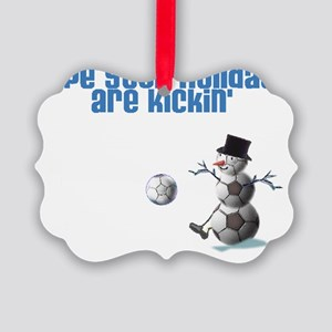 soccer card inside Picture Ornament
