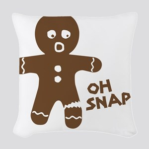Oh Snap Gingerbread Woven Throw Pillow