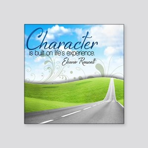 """Character Quote on Tile Coa Square Sticker 3"""" x 3"""""""