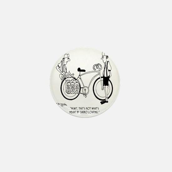 4231_bike_cartoon Mini Button