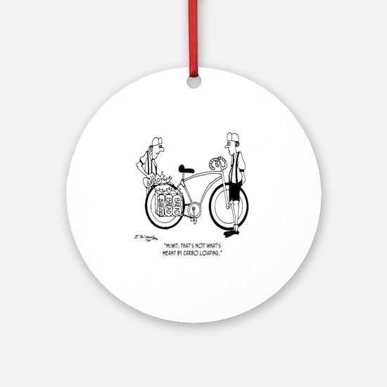 4231_bike_cartoon Round Ornament