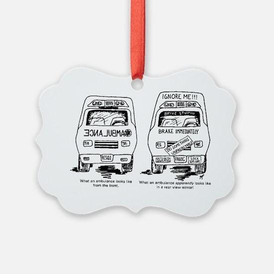 Ambulance Cartoon.gif Ornament