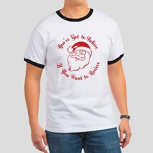 Santa Believe for Dark Shirt_JUST RED_whi Ringer T