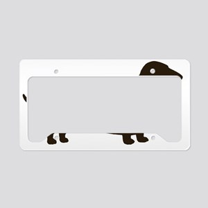 dachshundchocolate10x10 License Plate Holder