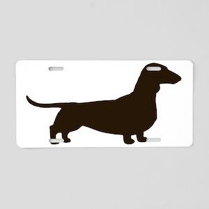 dachshundchocolate10x10 Aluminum License Plate