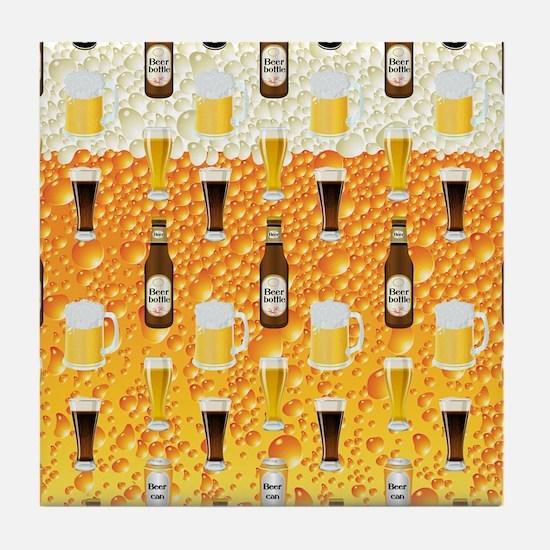 Beer Flip Flops Tile Coaster