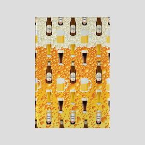Beer Flip Flops Rectangle Magnet