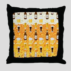 Beer Flip Flops Throw Pillow