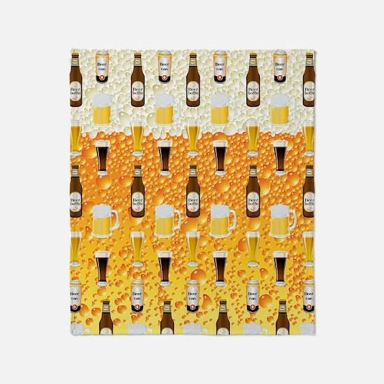 Beer Flip Flops Throw Blanket