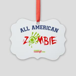 All_American_Zombie Picture Ornament