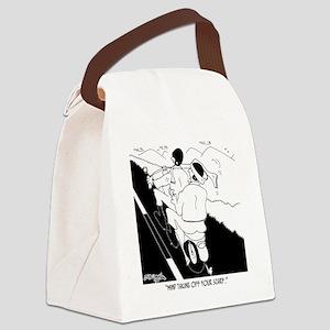 6874_motorcycle_cartoon Canvas Lunch Bag