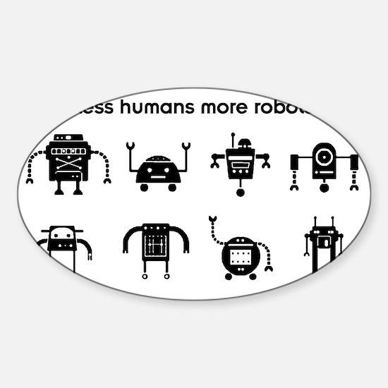 lesshumans Sticker (Oval)