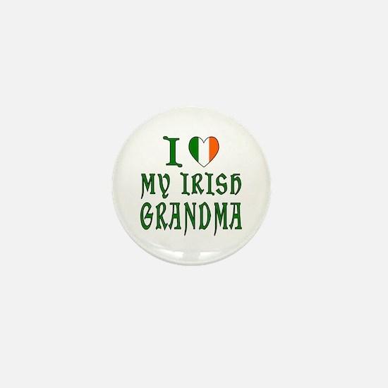 I Love My Irish Grandma Mini Button