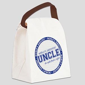 WorldsGreatestUncle Canvas Lunch Bag
