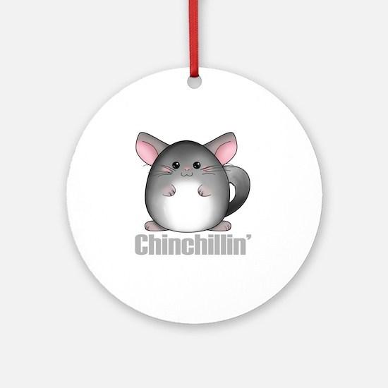 chinchillin2 Round Ornament