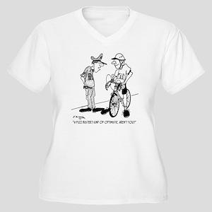 1704_bike_cartoon Women's Plus Size V-Neck T-Shirt
