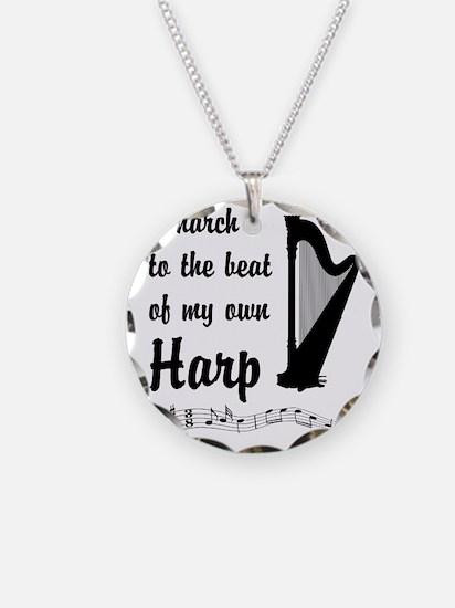 MarchHarp Necklace Circle Charm