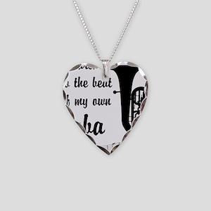 MarchTuba Necklace Heart Charm