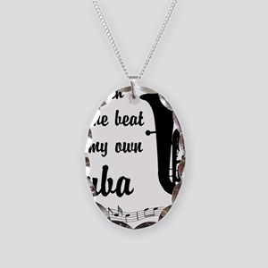 MarchTuba Necklace Oval Charm