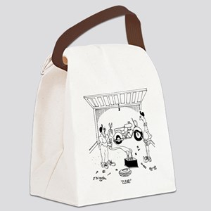 6868_bike_cartoon Canvas Lunch Bag