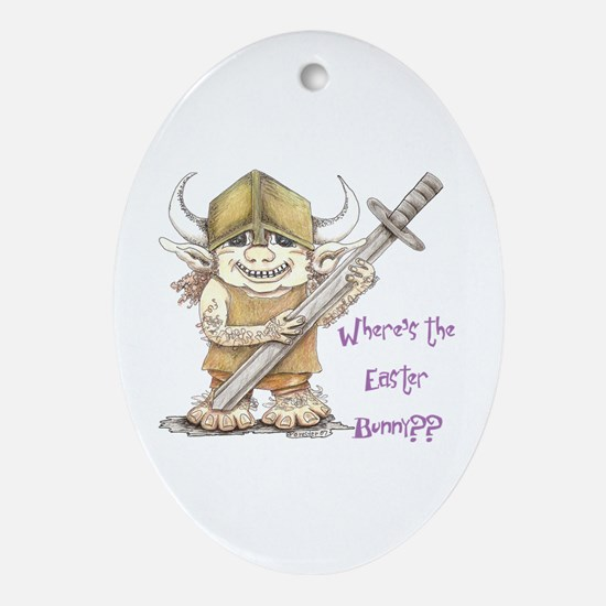 Easter Troll Oval Ornament