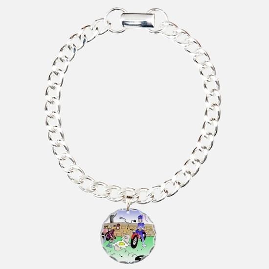 6805_bike_cartoon Bracelet